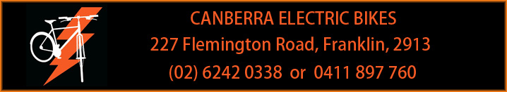 Canberra Electric Bikes Banner