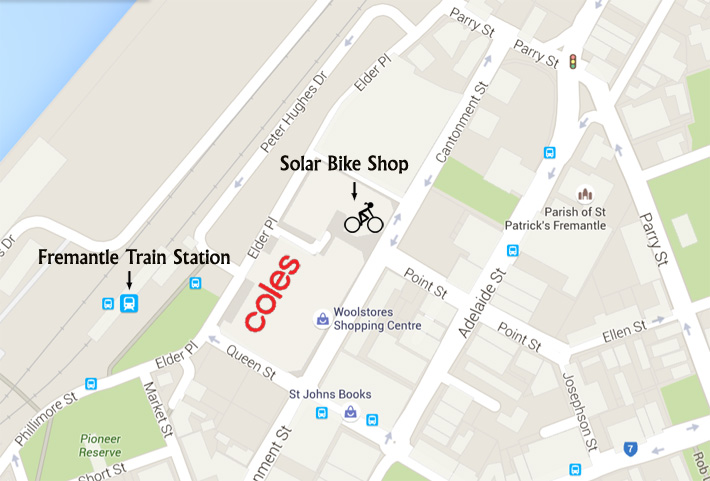 Solar Bike Fremantle Shop Map