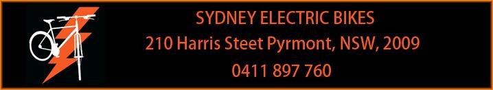 Sydney Electric Bikes Banner 2