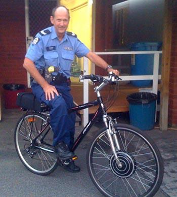 Captain Lee Rudrums bike