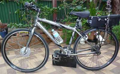 Rob Stentons electric bike