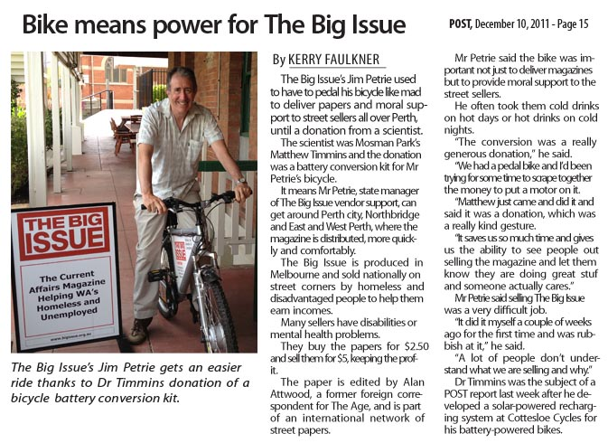 The Big Issue Electric Bicycle