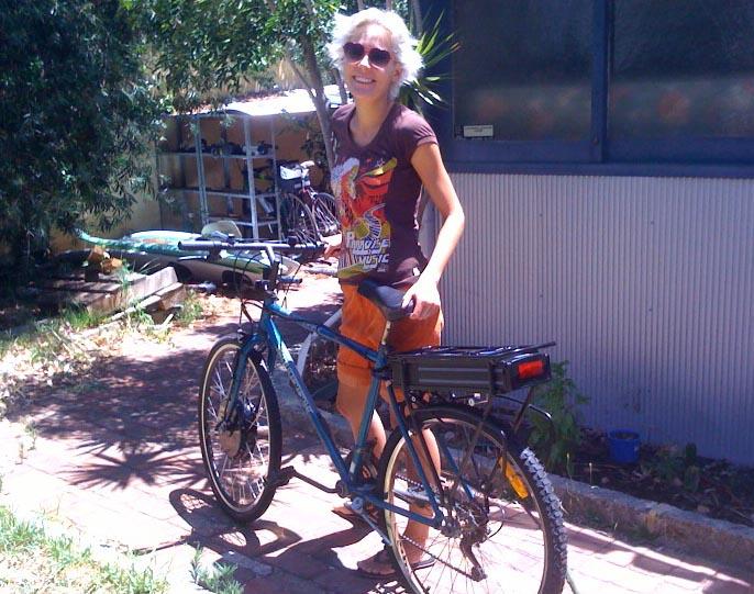 anneli and bike