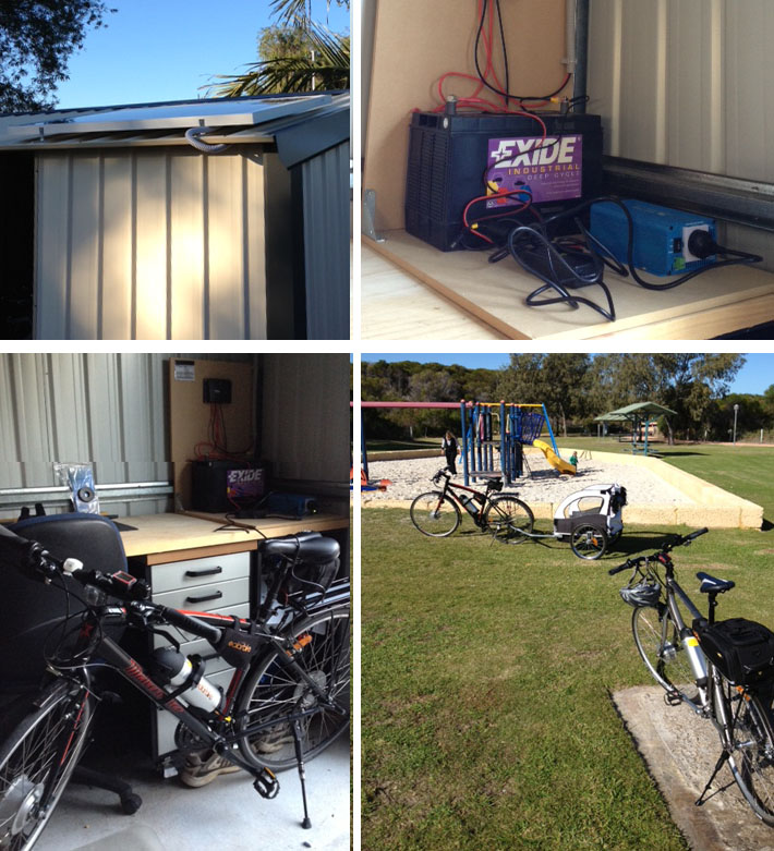 Gareths solar bike system