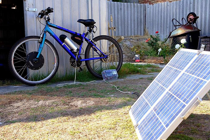 Rusdys solar powered ebike