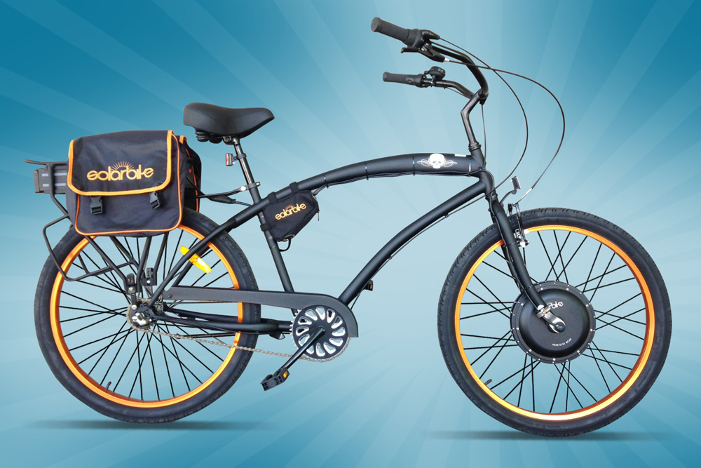 Electric 1000W Beach Cruiser  SOLAR BIKE