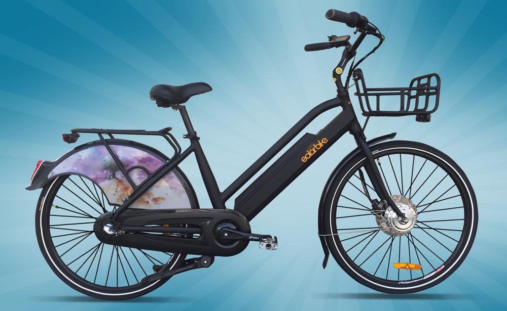 Black Solar Bike Rental Bike