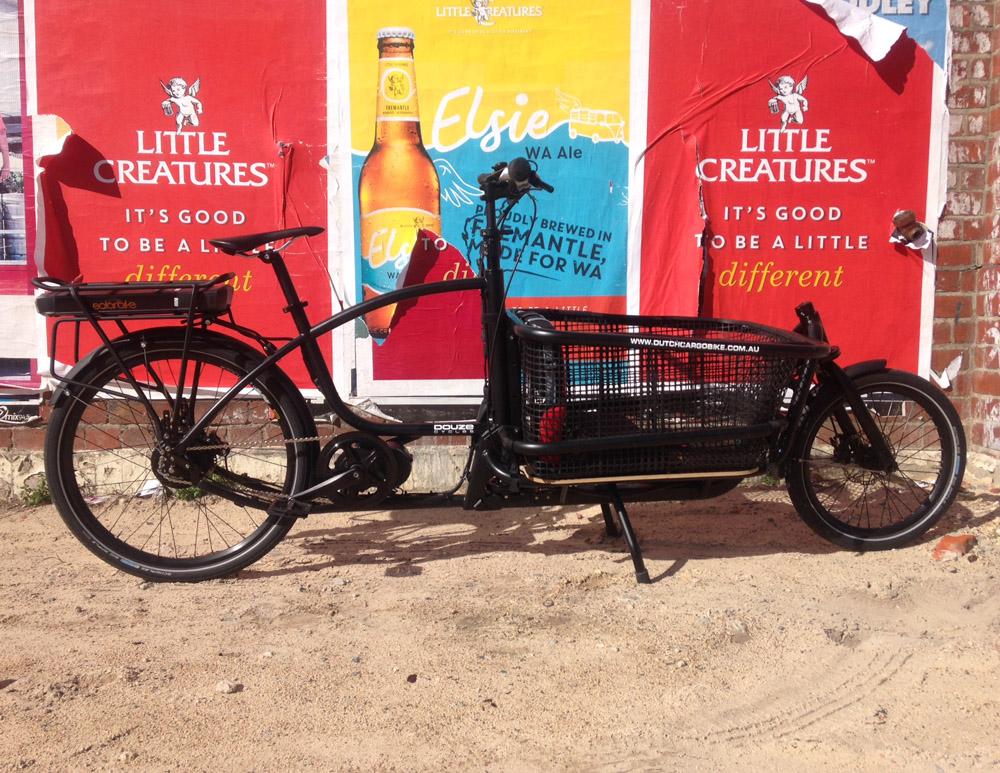 Electric Douze cargo bike with BAFABG conversion kit