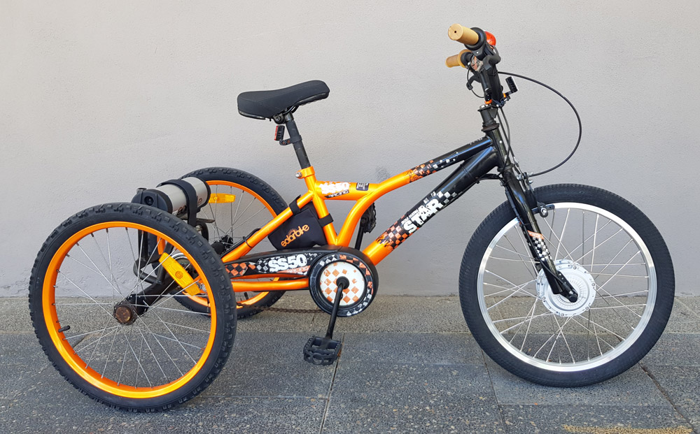 Electric BMX tricycle