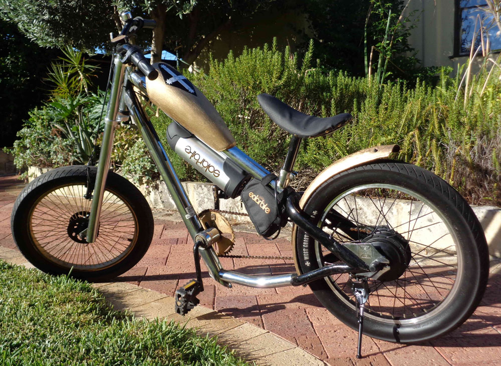 Electric chopper with Solar Bike conversion kit