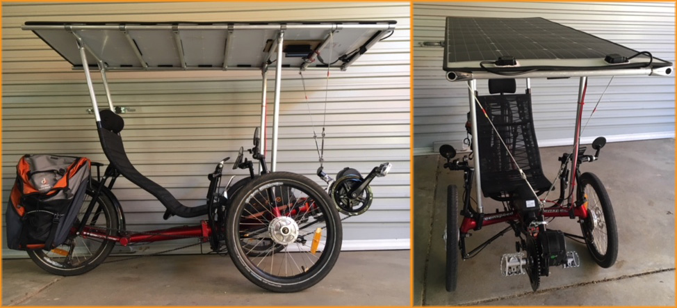 Peters electric solar trike with bafang motor
